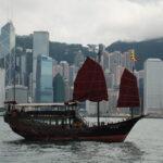 bat-winged / junk boat honk kong