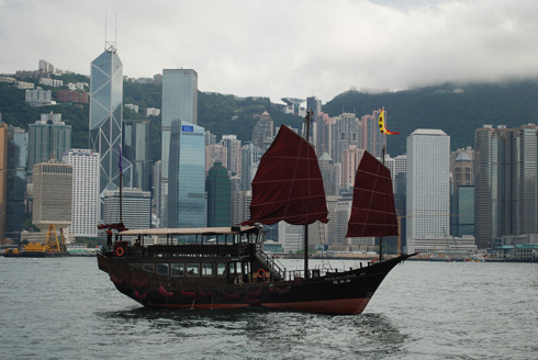 bat-winged / junk boat honk kong