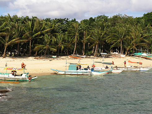 Boracay Island Beach and Boats