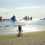 Boracay Island Couple Walking on the Beach