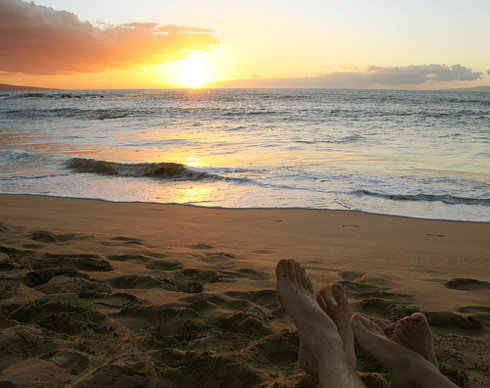 Honeymoon Hawaii Sunset