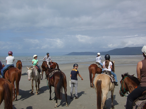 horse riding on the beach australia