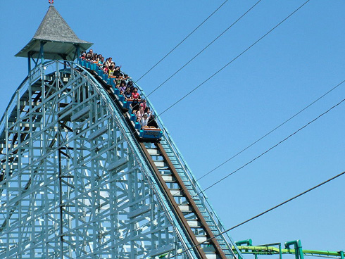 Cedar Point - Oldest Operating Roller Coaster - Blue Streak