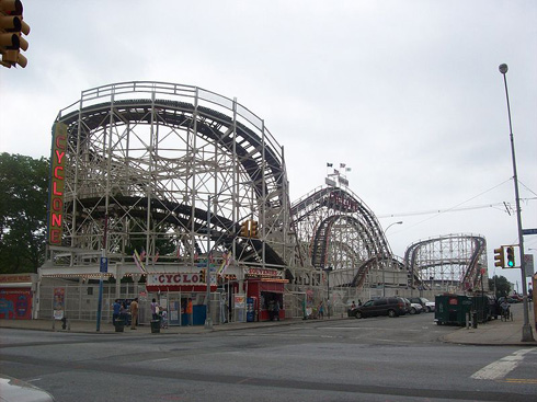 Coney Island Wooden Roller Coaster