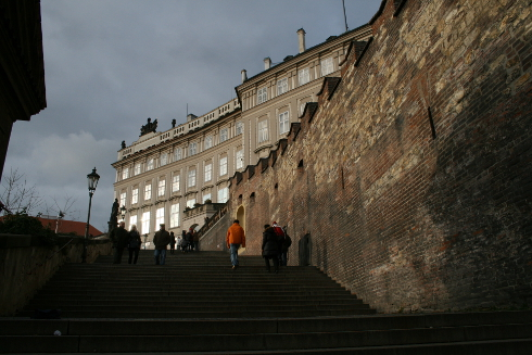 Prague Castle stairs