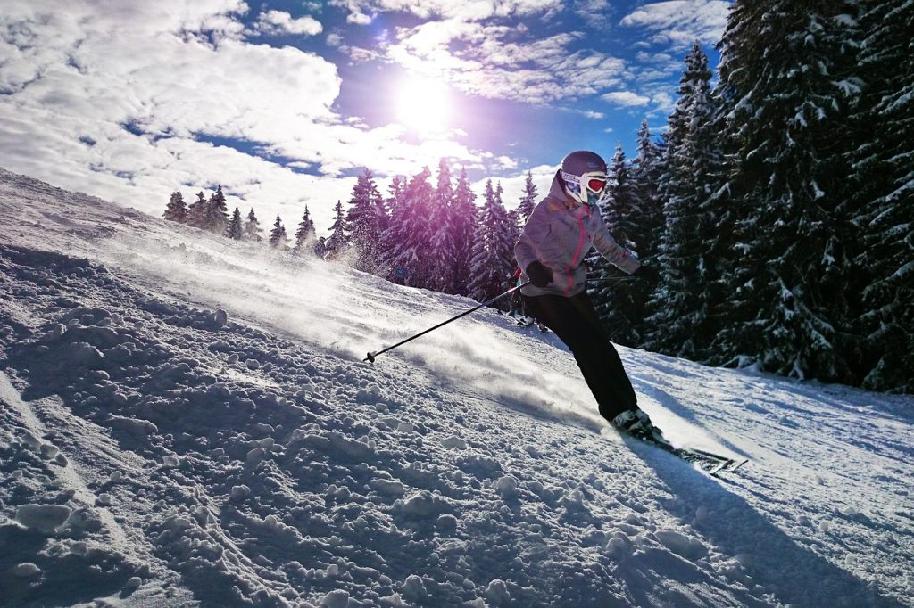 Skier on slope, Austria