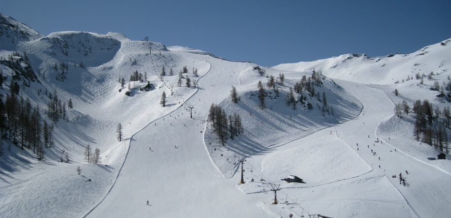 Ski slope closeup, Austria