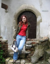 Visiting Bran Castle, Bran, Romania