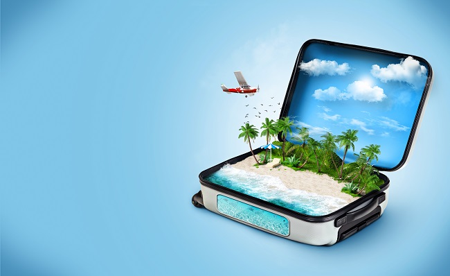 Suitcase for Traveling to a Beach