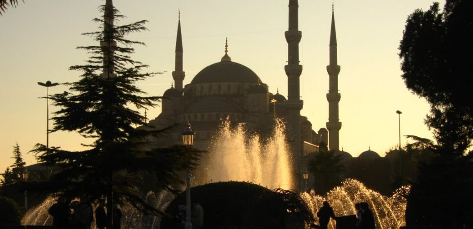 Blue Mosque, Istanbul, sunset