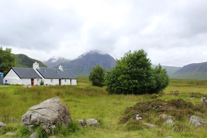 cottage in Glencoe, in the Highlands of Scotland