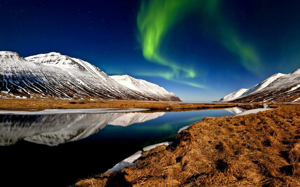 Landscape, Iceland, Northern Lights
