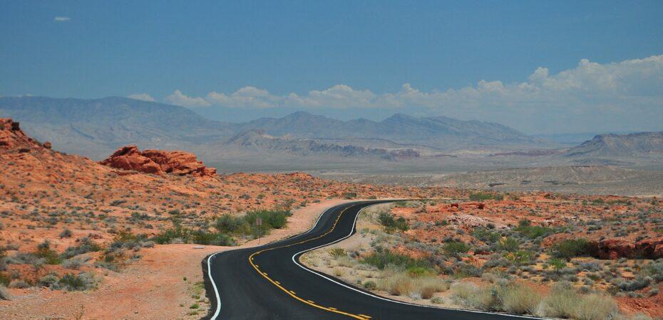 Road trip landscape