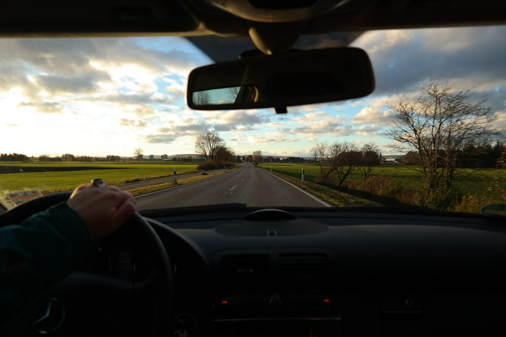 Road trip - driver's view