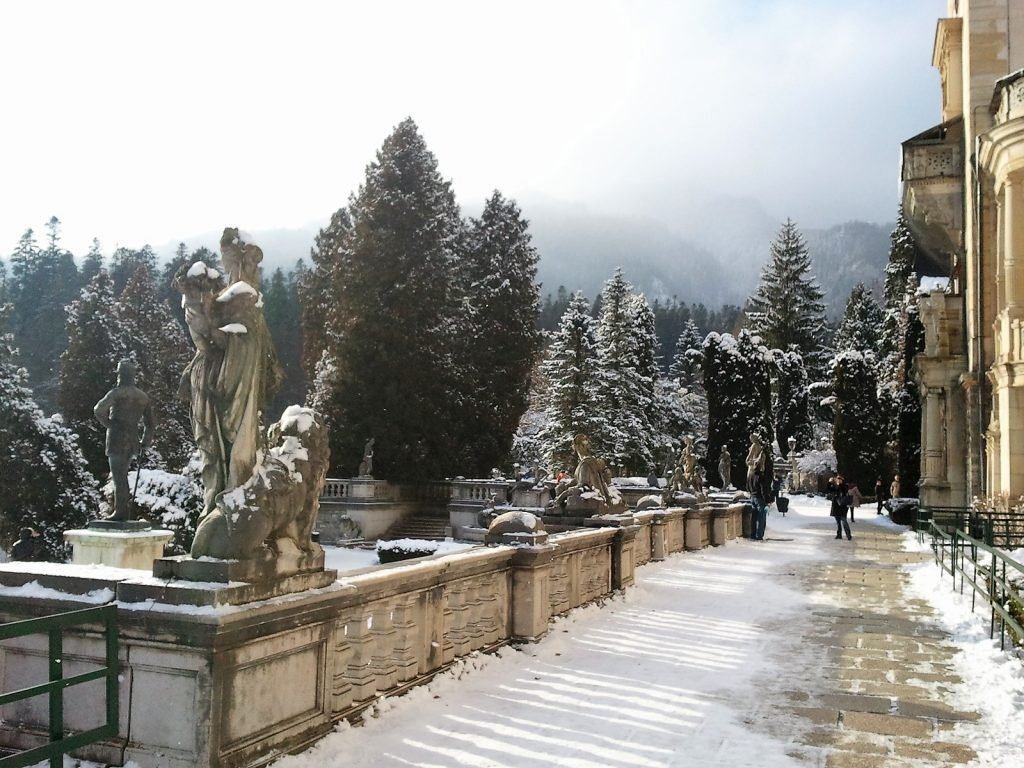 Terrace view, Peles Castle, Sinaia