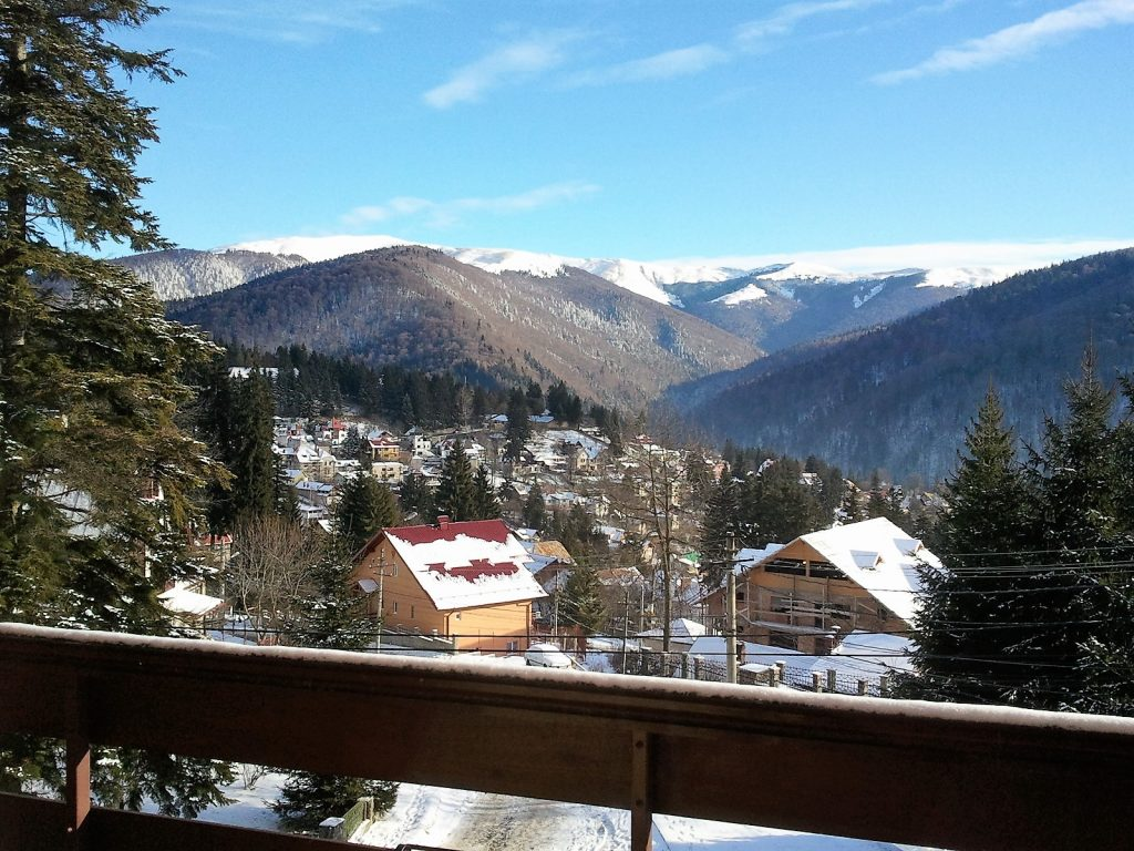 View of Sinaia from a hotel balcony
