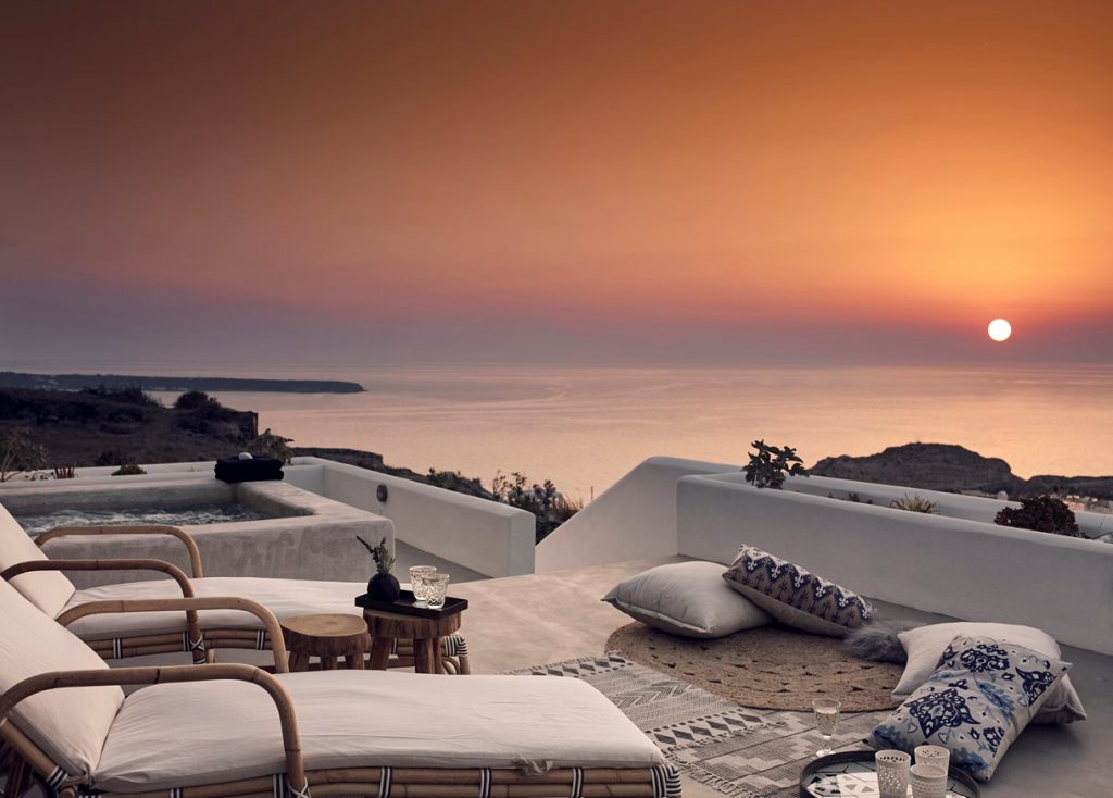 Santo Maris Sunset, Santorini, Greece