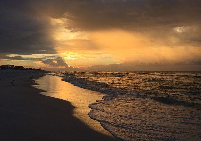 Beach after dark